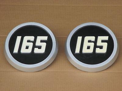 2 Plastic Medallion Hood Emblems For Massey Ferguson Mf 165 Uk