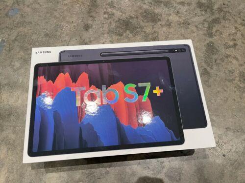 """OB Samsung Galaxy Tab S7 + Plus 12.4"""" 128GB- With S Pen - Wi-Fi - Mystic Black"""