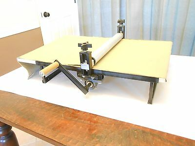 Slab Roller for Clay, Heavy Duty, Portable, Tabletop, Adjustable, No Shims