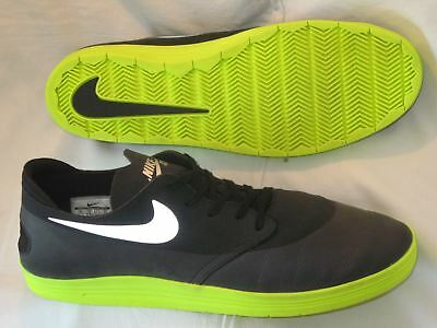 580eda31c1 Nike SB Lunar One Shot Shoe World Cup QS Black Reflect Silver Volt 631044  SZ 13