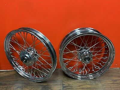 Kawasaki kz 1000 Custom Chrome Spoke Wheels.