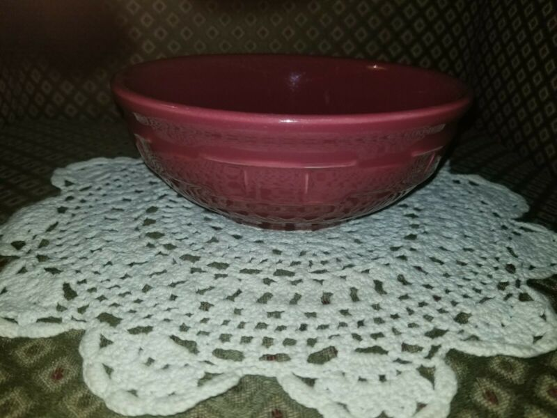 Longaberger Woven Traditions Pottery Paprika (Red) 26 oz  Cereal Bowl~USA~MINT!