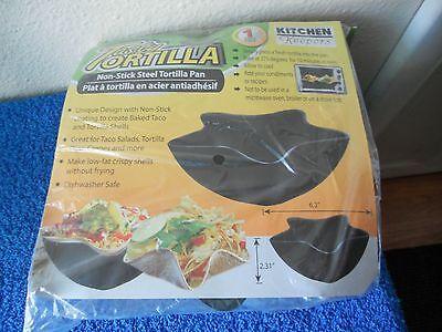 DELICIEAUX Tortilla Non Stick Steel Pan Taco Salad Shell Maker ()