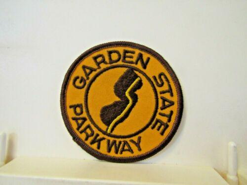 "Garden State Parkway patch new unused round 3"" vintage? gold brown"