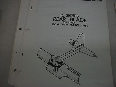 Land Pride Owners Parts Manual 15 Series Rear Blade Above Serial Number 32360