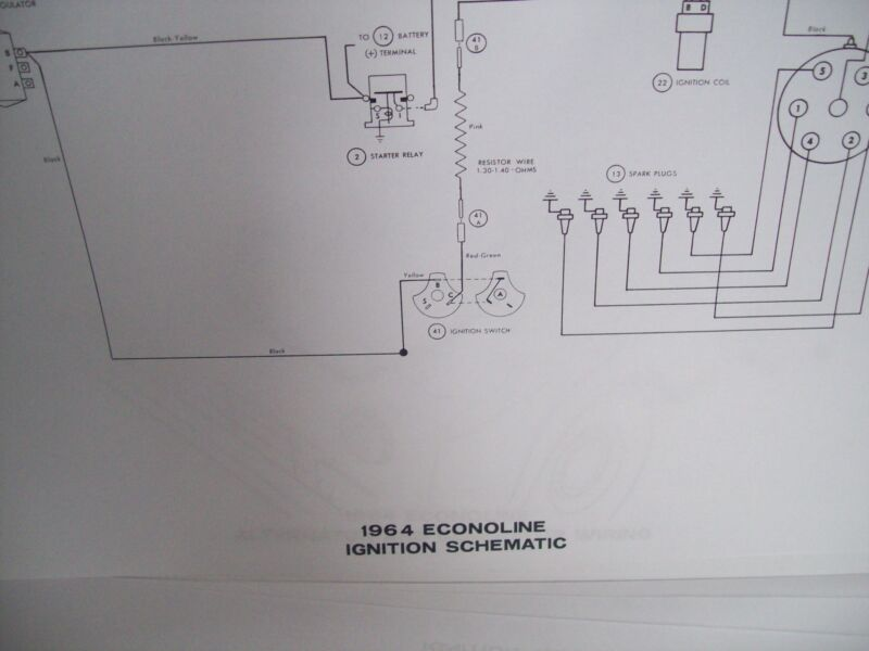 1964 ford econoline wiring diagram 11x17 oversized 14 pages must 1964 ford econoline wiring diagram 11x17 oversized 14 pages must have