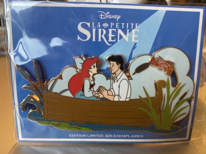 Pin  DISNEY EVENT Disneyland PARIS LITTLE MERMAID ARIEL BOAT  LIMITED EDITION
