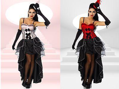 5-teiliges Cabarett-Kostüm Burlesque-Stil Fasching Karneval Brustpolster 12153