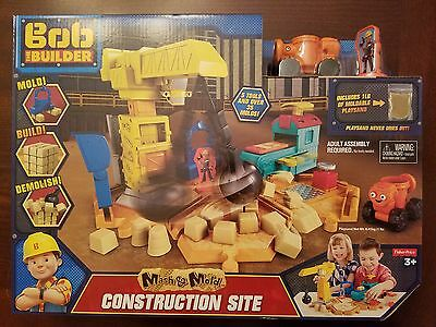 Bob the Builder Construction Site Mash & Mold Playset w/ Playsand, Tools & Molds