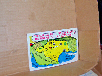 Texas comic post card sent from Wichita Falls, TX with a 6 cent stamp.