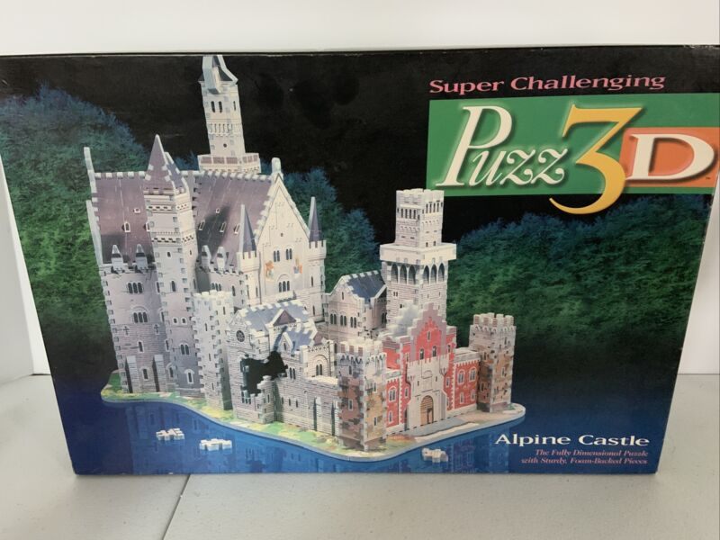 3D Puzzle Puzz3D Alpine Castle Over 1000 Pieces Realistic Design Foam Backed