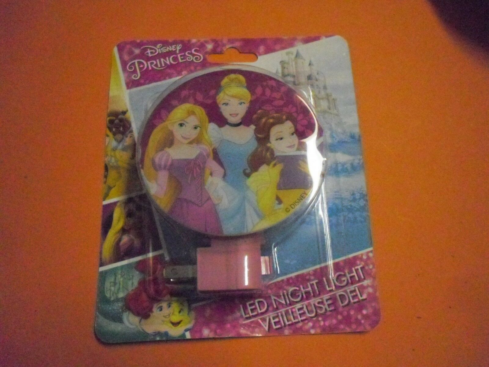 new 2 pk princess led night light