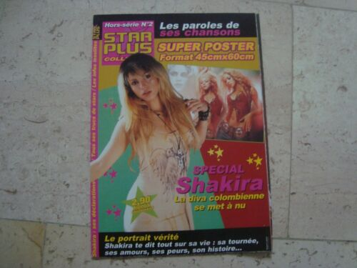 SHAKIRA *rare* SPECIAL cover magazine with POSTER