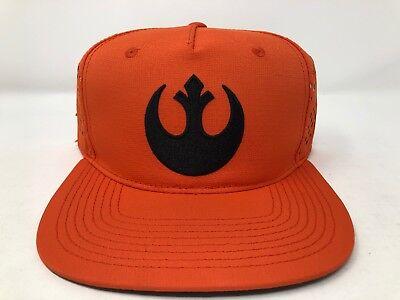 Rebel Alliance Costume (Star Wars Rebel Alliance Trucker Mesh Orange Hat Cap LOGO Snapback Costume)