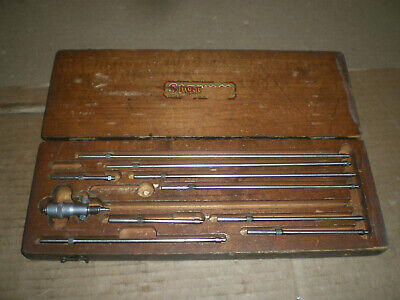 Starrett No.124-b Inside Micrometer Set With Wood Box