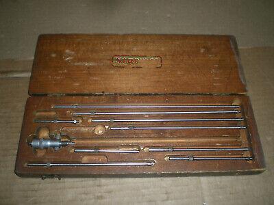 Starrett No.124-b Inside Micrometer Set With Wood Box