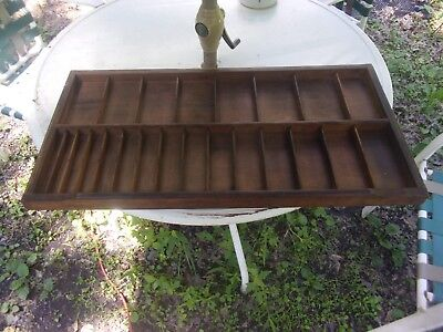 ANTIQUE WOODEN PRINTERS DRAWER