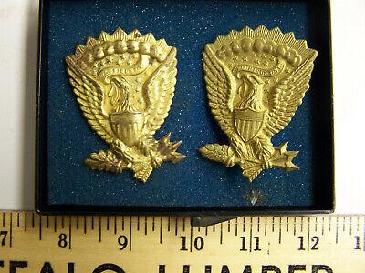 (2) Reproduction, Jeff Davis Brass Eagle Medallians, Civil War -  I.W.