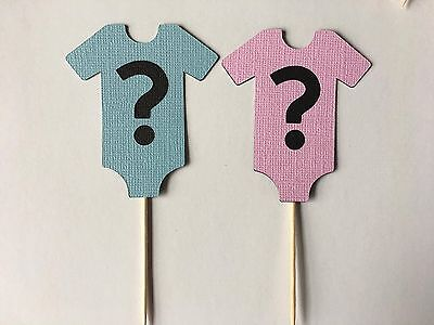 24 Gender Reveal Baby shower cupcake Toppers. Great for baby - Cupcake For Baby