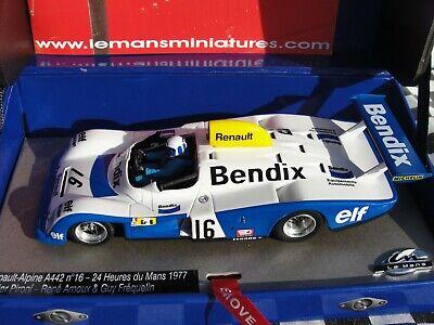 Le Mans Miniaturen Renault Alpine A442 #1-1976 Le Mans 1//32 Slotcar 132076m