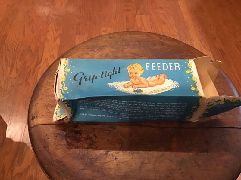 Vintage ~Grip tight Feeder Baby Bottle ~ Original Box
