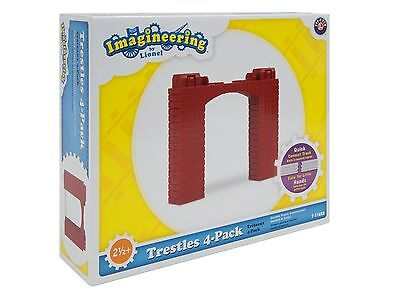LIONEL Imagineering Little Lines Train TRESTLE 4-PACK NEW Add On REPLACE 7-11628