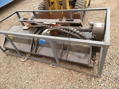 New Skid Steer 69 Hydraulic Flail Mower Attachment Brush Cutter