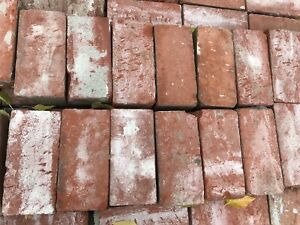 Old red brick paving stones