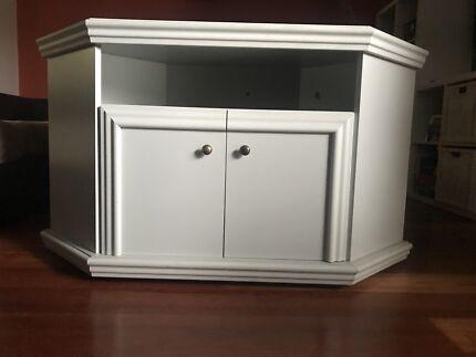 TV Corner Unit - White