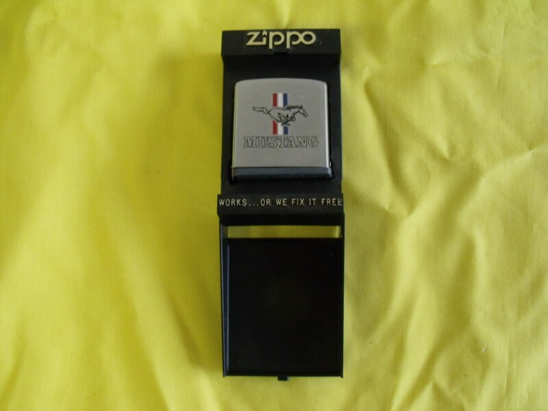 Ford Mustang Measuring Tape in Case Zippo Brand Authentic 1966 1967 1968