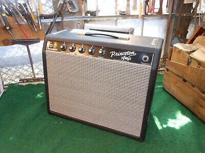1965 FENDER PRINCETON BLACK FACE GUITAR AMPLIFIER Incredible Tone Serviced