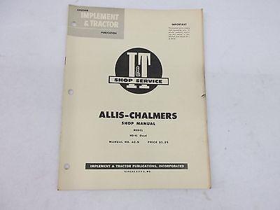 Allis Chalmers Model Wd 45 Diesel Shop Service Manual