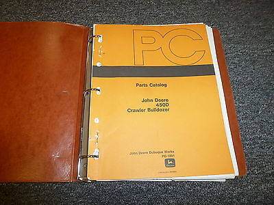 John Deere 450d Crawler Bulldozer Dozer Tractor Parts Catalog Manual Pc1891
