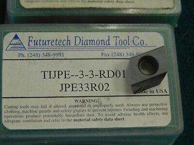 Futuretech Ti-jpe 33 R02 D01 Pcd Tipped Diamond Insert