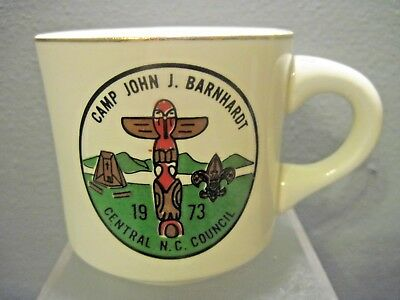 BOY SCOUT OF AMERICA CENTRAL NC COUNCIL CAMP JOHN J BARNHARDT 10 OZ COFFEE MUG