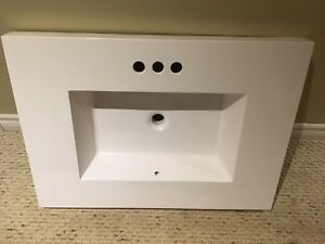 Bathroom vanity counter top with built in sink.