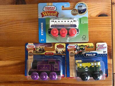 Fisher Price Thomas Train Wooden Etienne, Ryan & Phillip! NEW!