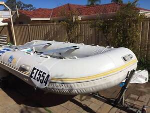 15ft Inflatable new engine trailer dinghy H2O Max VGC Booragoon Melville Area Preview