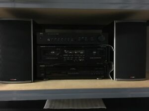 NAD amp/Onkyo CD changer/tape  - Polk speakers