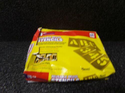 4 inch  BRASS Stencil Let. & Num. 92 pc Set (MK)