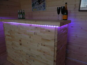 Premium Home Bar Counter Micro Pub Man Cave Summer house patio with lights  012