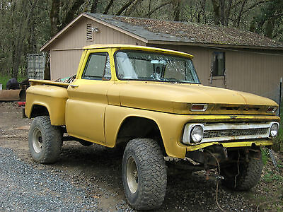 Chevrolet : Other Pickups truck 2 door 1965 Chevy 4x4 truck. Great parts truck or Project truck.