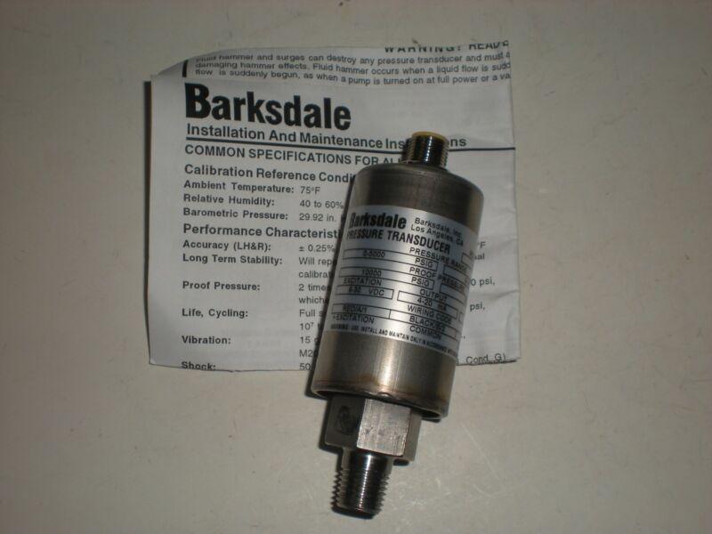 BARKSDALE 425T4-15 0-5000 PSIG 0-345 BAR PRESSURE TRANSDUCER NEW
