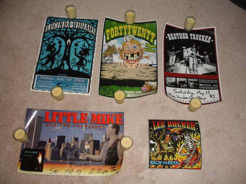 Lot of 4 Concert Promo Posters-Lucinda Williams,Fortytwenty,Brother Trucker,...