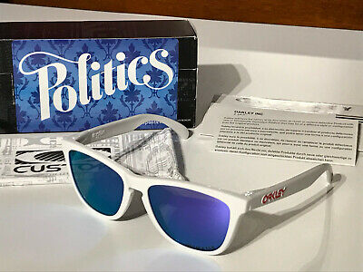 Oakley Frogskins Sneaker Politics pol.white violet irid. rare collector special