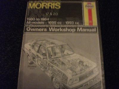 Haynes Manual Morris ITAL 1.7 & 2.0 From 1980 To 1984 All models
