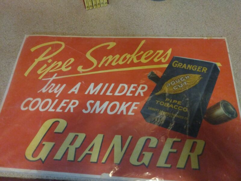Vintage Granger Tobacco Advertisement Sign Myers Tobacco Company rare