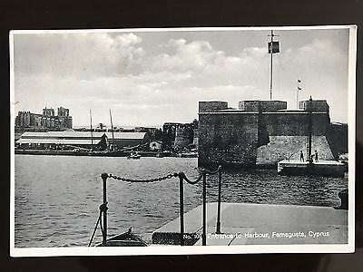 CYPRUS POSTCARD GLASZNER FAMAGUSTA ENTRANCE TO THE HARBOUR NO 109