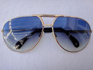 Vintage-METZLER-Aviador-Gafas-de-sol-en-forma-de-oro-anos-80-Hecho-en-Alemania