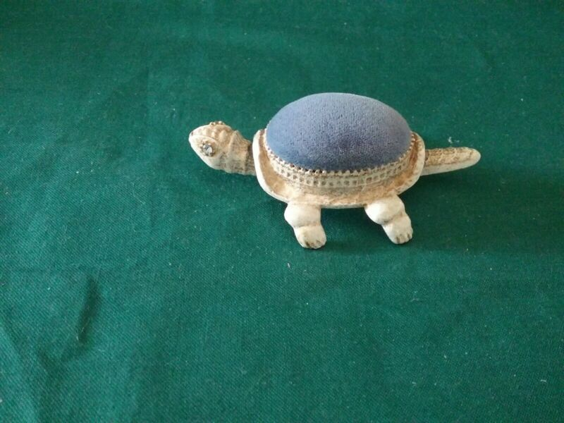 Vintage  Florenza Turtle Pin Cushion with Bobble Head and Tail
